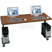 "Brawny Mobile Table 30""D X 60""W Med Oak"