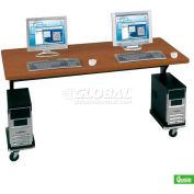 "Brawny Mobile Table 30""D X 72""W Med Oak"