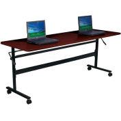 "Balt® Economy Flipper Training Table 72"" X 24"" Mahogany"