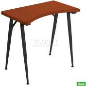 iFlex Printer Table - Cherry Top With Black Legs