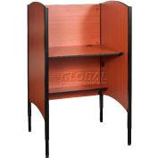 Balt® 90294 Up-Rite Height Adjustable Sit/Stand Carrel - Starter, Cherry