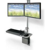 Balt® Wallmount Workstation - Dual Monitor Add-on