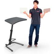 "Up-Rite Workstation Student Height Adjustable Desk, 26-3/5""W x 20""D x 26-43""H, Graphite Nebula"