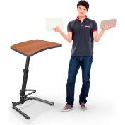"Balt® 90532 Up-Rite Student Sit/Stand Desk, 26""- 43""H x 26-5/8""W x 20""D, Amber Cherry"