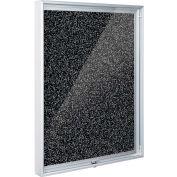 "Balt® Enclosed Bulletin Board, Black RubberTak, 48""W x 36""H"