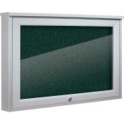 "Balt® Weather Sentinel Outdoor Enclosed Cabinet - Rubber-Tak Surface - 24""W x 18""H Green"