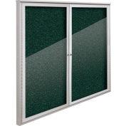 "Balt® Weather Sentinel Outdoor Enclosed Cabinet - 2 Doors - 48""W x 48""H Green"