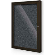 "Balt® 1 Door Enclosed Black Rubber-Tak Bulletin Board Coffee Frame - 24""W x 36""H"