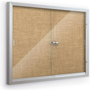 "Balt® Deluxe Bulletin Board Cabinet with 2 Sliding Doors 46""W x 34""H, Natural"