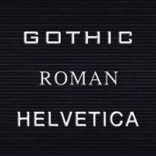 """Balt® Helvetica Letter Sets - 1""""H"""