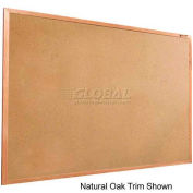 "Balt® Valu-Tak Tackboard with Mahogany Wood Trim 48""W x 36""H"