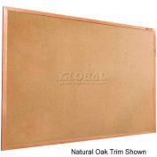 "Balt® Valu-Tak Tackboard with Mahogany Wood Trim 48""W x 48""H"