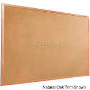 "Balt® Valu-Tak Tackboard with Mahogany Wood Trim 72""W x 48""H"