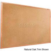"Balt® Valu-Tak Tackboard with Mahogany Wood Trim 72""W x 48""H"