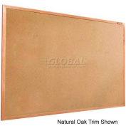 "Balt® Valu-Tak Tackboard with Mahogany Wood Trim 96""W x 48""H"