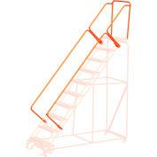 """CAL-OSHA 42"""" Handrail Kit for 5 to 9 Steps - Orange"""