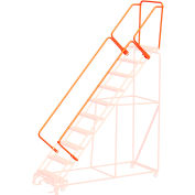 """44""""H CAL-OSHA Handrail Kit for Orange Extra Heavy Duty Rolling Safety Ladders"""