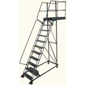 """Ballymore 11 Step Steel Cantilever Ladder -14"""" Overhang, Serrated Tread"""