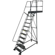 """Ballymore 11 Step Steel Cantilever Ladder -28"""" Overhang, Serrated Tread - CL-11-28-S"""