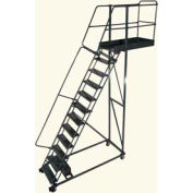 "Ballymore 12 Step Steel Cantilever Ladder -14"" Overhang, Perforated Tread"