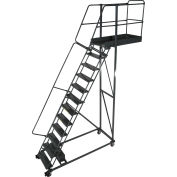 "Ballymore 15 Step Steel Cantilever Ladder -42"" Overhang, Serrated Tread - CL-15-42-S"
