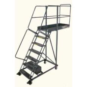 """Ballymore 6 Step Steel Cantilever Ladder -42"""" Overhang, Perforated Tread"""