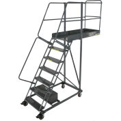 """Ballymore 7 Step Steel Cantilever Ladder -42"""" Overhang, Perforated Tread - CL-7-42-P"""