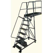"""Ballymore 8 Step Steel Cantilever Ladder -28"""" Overhang, Perforated Tread"""