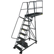 """Ballymore 8 Step Steel Cantilever Ladder -42"""" Overhang, Serrated Tread - CL-8-42-S"""