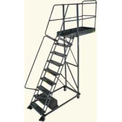 "Ballymore 9 Step Steel Cantilever Ladder -14"" Overhang, Perforated Tread"