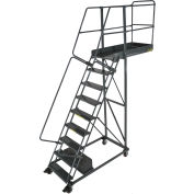 "Ballymore 9 Step Steel Cantilever Ladder -35"" Overhang, Perforated Tread - CL-9-35-P"