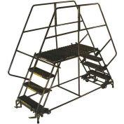 "4 Step Heavy Duty Steel Double Entry Work Platform 24""W Steps - DEP4-2448"