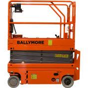 Ballymore Drivable Mini Scissor Lift 26' Platform,  500 Lb. Capacity - DMSL-26