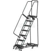 "7 Step 16""W Navigator All-Directional Steel Safety Ladder w/ Standard Rails - Nav-7RS"