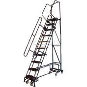 "9 Step 16""W Navigator All-Directional Steel Safety Ladder w/ Folding Rails - Nav-9RF"