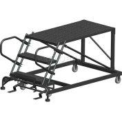 "4 Step Heavy Duty Steel Mobile Work Platform - 24"" x 72"" Platform"