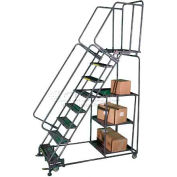 9 Step Steel Stock Picking Ladder Expanded Tread - SPL-9-X
