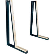 """Bluff A-Frame Slab Rack Single-Sided Wall Display, AFRAMEWALLRACK, 60""""W x 36""""D x 60""""H"""