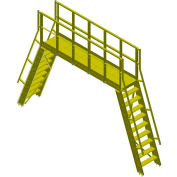 """Bluff Modular Crossover With 4-Tread Ladders, COPGS24-43-4, 68-1/2""""L x 24""""W x 43""""H Clearance"""