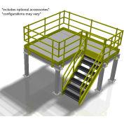 Bluff Value Engineered Mezzanine, MEZ-20208-BDRD, 20'W x 20'D x 8'H