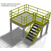 Bluff Value Engineered Mezzanine, MEZ-50508-BDRD, 50'W x 50'D x 8'H