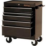 "Blackhawk™ By Proto® 92705R 27"" Roller Cabinet, 5 Drawer, Black"
