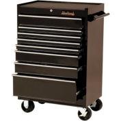"""Blackhawk 92708R 27"""" Roller Cabinet, 8 Drawer, Black"""