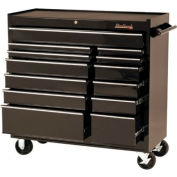 "Blackhawk™ By Proto® 94114R 41"" Roller Cabinet, 14 Drawer, Black"