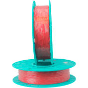 03-2500 Red Colored Paper/Plastic Standard Twist Tie Ribbon - 2500 feet per spool