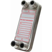High Pressure Brazed Plate Heat Exchanger with Mounting Tabs, BP412-20MT