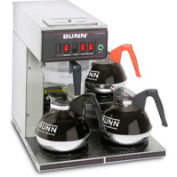 Bunn 12950.0212 - 12 Cup Automatic Coffee Brewer With 3 Lower Warmers, CWT15-3