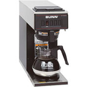 Low Profile Pourover Coffee Brewer With 1 Warmer, VP17-1, Black