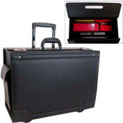 Stebco Catalog Case on Wheels with Leather Trim