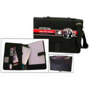 Bond Street All-in-One Tablet/iPad Organizer with Writing Pad, Charcoal